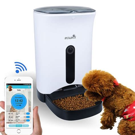 automatic pet feeder petwant smart automatic pet feeder connected crib