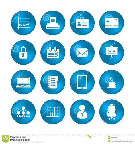 icones bureau diverses icônes de bureau image libre de droits image