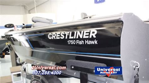 Boats For Sale Rochester Mn by 2016 Crestliner 1750 Fish Hawk Fishing Boat For Sale