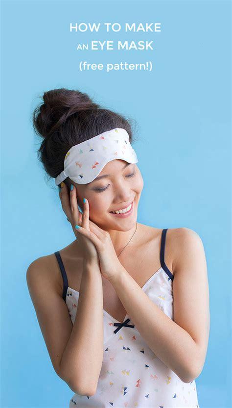 diy sleep mask sewtorial