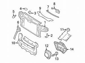 2006 Volkswagen Touareg Radiator Support Plug  Group  Body
