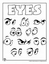Coloring Eye Eyes Pages Crafts Printable Printables Worksheets Games Activities Letters sketch template