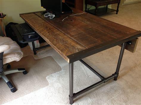 easy  build reclaimed wood desk blog