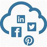 Social Icon Cloud Marketing Network Icons Data