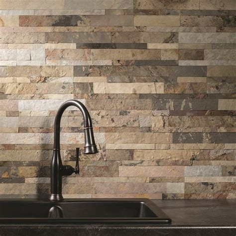 kitchen backsplash peel and stick aspect 6in x 24in medley slate peel and stick