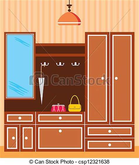 entrance in apartment of interior closet in the vectors search clip