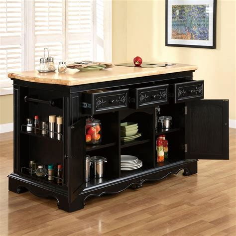 pennfield kitchen island powell pennfield kitchen island with three drawers 1459