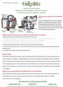How To Adjust Volkswagen 34pict  4 And H30  31 Carburetors