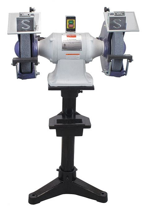 dayton bench grinder dayton 12 quot bench grinder 230 460v 3 hp 1800 max rpm 1