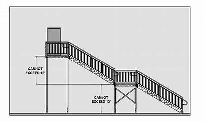 Stair Landing Ada Requirements Ibc Elevation Stairs