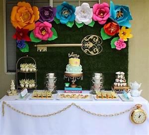 Kara's Party Ideas Alice In Wonderland Dessert Table