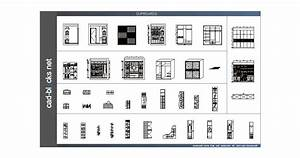 Others CAD Blocks: closets in front elevation, section