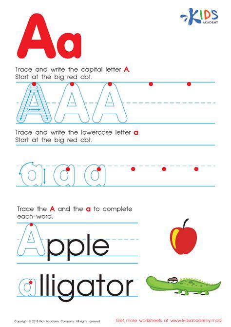 free alphabet worksheets for a z authorstream