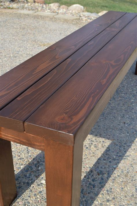 Bench Designs Simple by Kruse S Workshop Simple Indoor Outdoor Rustic Bench Plan