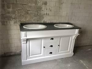 Badmöbel Landhaus Weiß : waschtisch wei grau landhaus waschtisch massivholz doppelwaschtisch im landhausstil ~ Indierocktalk.com Haus und Dekorationen