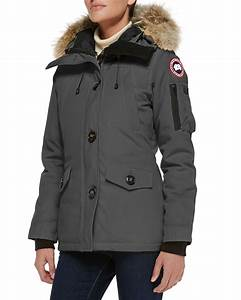 Lyst Canada Goose Montebello Fur Trimmed Shell Down Parka Jacket In Yellow