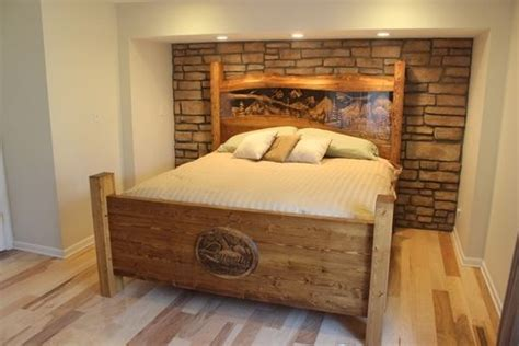 king size wood headboard and footboard made king size headboard footboard waterfall