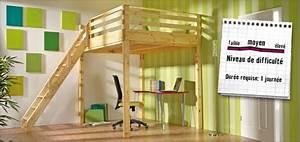 Faire Une Mezzanine : fabriquer soi m me un lit mezzanine instructions de ~ Melissatoandfro.com Idées de Décoration