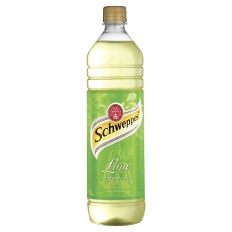 lime cordial schweppes lime cordial 1 litre case of 12 cordial soft drinks online cash and carry