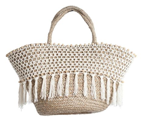 panier basket chambre made basket fringing and crochet panier