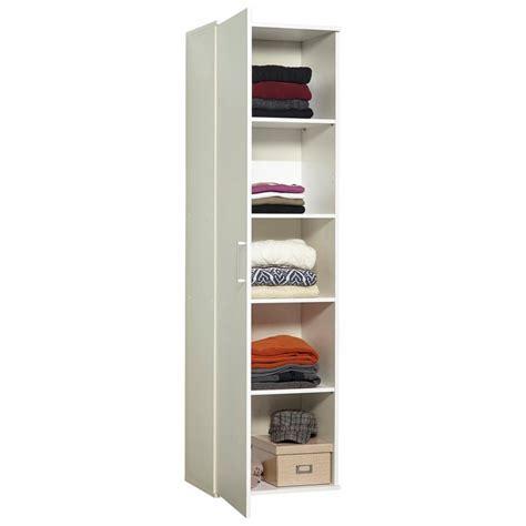 colonne de rangement pour chambre meuble de rangement colonne 1 porte 50 cm blanc autres