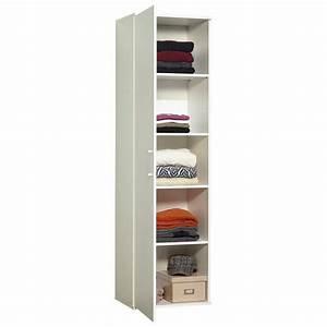 Colonne 30 Cm Largeur : meuble de rangement colonne 1 porte 50 cm blanc autres ~ Premium-room.com Idées de Décoration