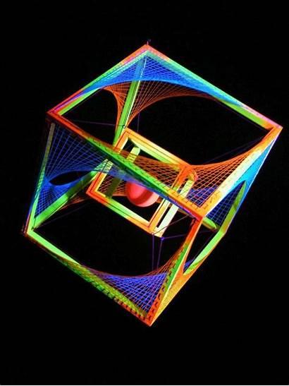 3d String Neon Cool Schwarzlicht Crafts Stringart