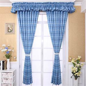 Blue Polyester Mediterranean Style Kids Room Country Plaid