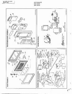 Complete Microwave Assembly Page 2 Diagram  U0026 Parts List