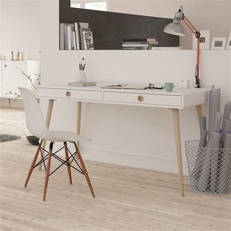 white desk with wooden legs walton wooden wide desk in white and oak legs with 2