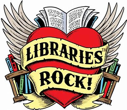 Library Clipart Reading Librarian Rock Summer Program