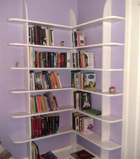 how to make a bookcase stylish and easy to make corner bookshelf