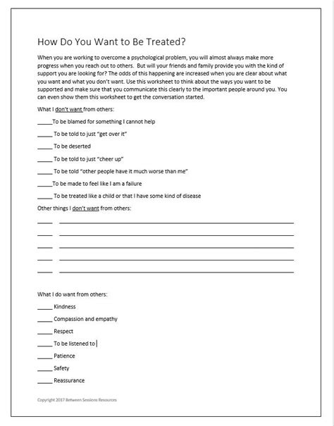 Download grief therapy worksheets for teens at Between