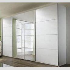 Schiebe Kleiderschrank Groß Weiß Matt Mit Spiegel Modern