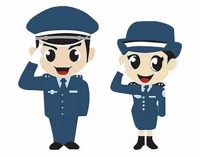 Clipart Police Cartoon Officer Policeman Salute Transparent