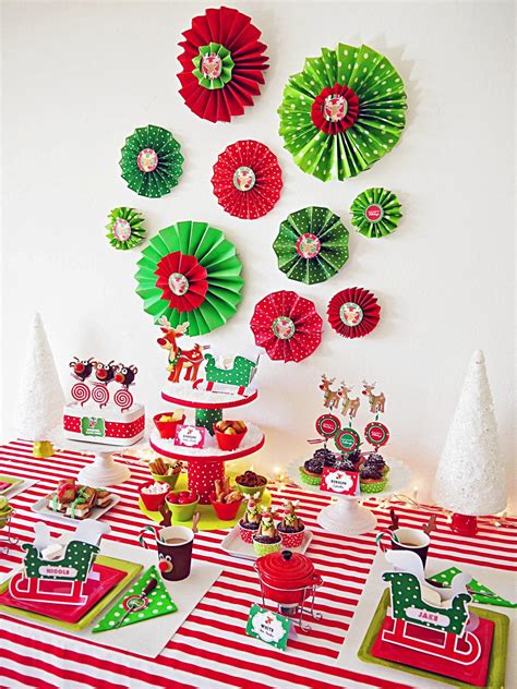 host a christmas ornament making party how to make folded paper rosettes hgtv