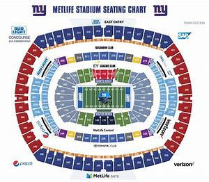 Seating Chart Met Philadelphia Metlife Stadium Seating Map Jets Seating Map New York