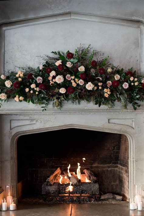 Backdrop With Fireplace by 25 Fireplace And Mantel Wedding Backdrops Weddingomania