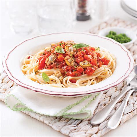 cuisiner la palourde linguines express aux palourdes recettes cuisine et