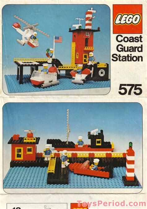 lego   canadian coast guard station set parts