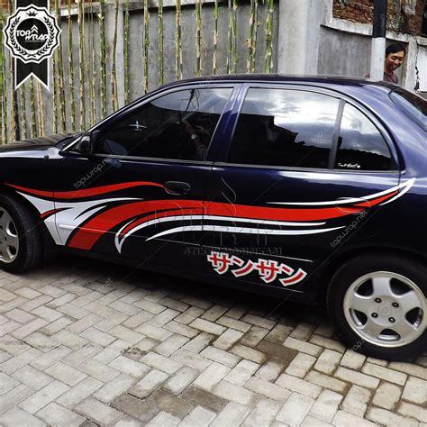 Cutting Sticker Mobil by Cutting Sticker Untuk Mobil Warna Hitam Bahuma Sticker