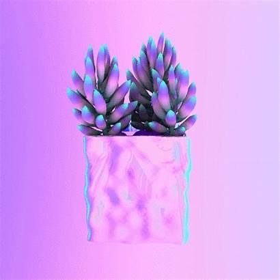 Trippy Pastel Plant 3d Plants Glow Aesthetic