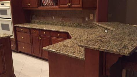 Santa Cecilia Granite Countertops Installation Kitchen