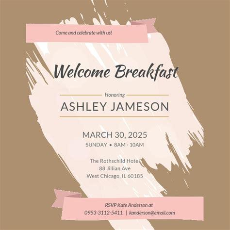 wonderful breakfast invitation templates psd ai