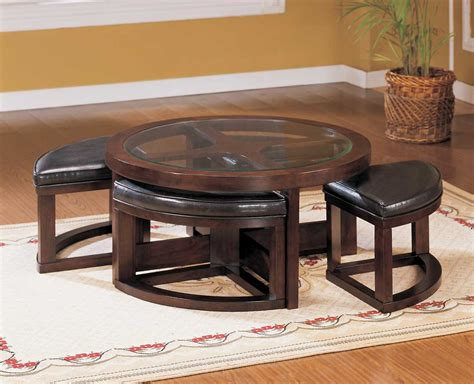 round ottoman coffee table homelegance brussel round cocktail table with 4 ottomans
