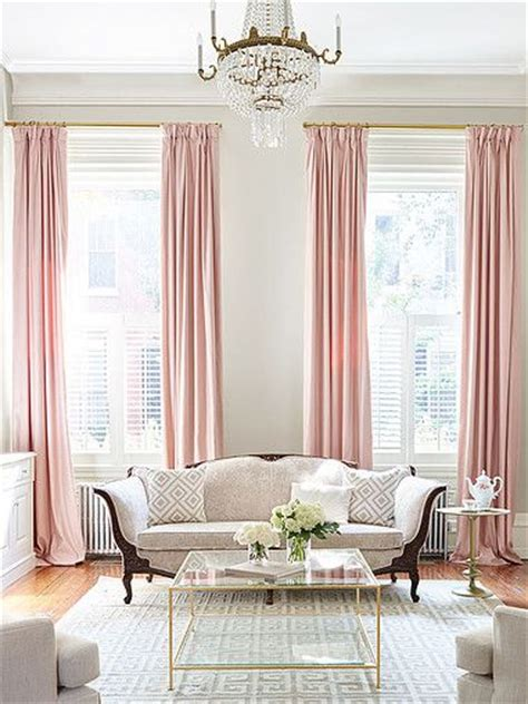 Gray Curtains For Living Room by Best 25 Pink Curtains Ideas On Blush Curtains