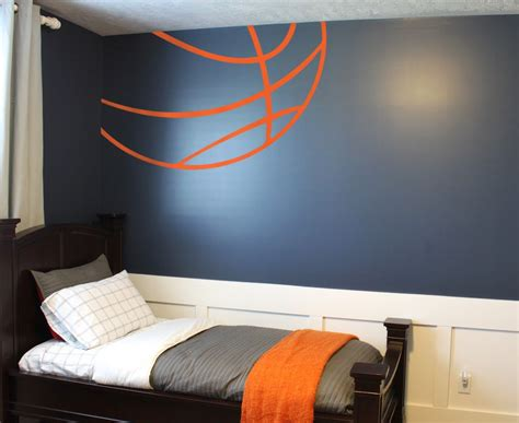 Basketball stripes custom vinyl lettering wall words stickers home decor vinyl decor sport decal this is for a 9 foot ceiling. Basketball Lines Wall Decal | Basketball bedroom, Room themes, Bedroom themes
