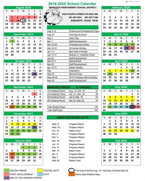bisd school calendar district calendar
