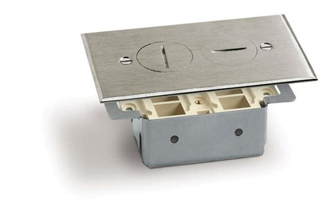 lew floor box saw lew electric rrp 2 ns t rectangular floor box plugs