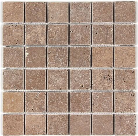 2x2 travertine tile noce travertine tumbled 2x2 floor and wall mosaic tile traditional mosaic tile new york